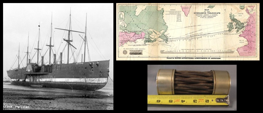 MIKE & MIKE: how the SS GREAT EASTERN laid the first successful undersea telegraph across the Atlantic Ocean in 1866 — awesome!