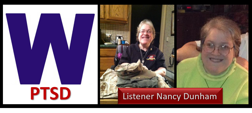 MEET A LISTENER — NANCY DUNHAM:  retired hospital chaplain, disciple of Post-Traumatic Winning and lives her life with cerebral palsy