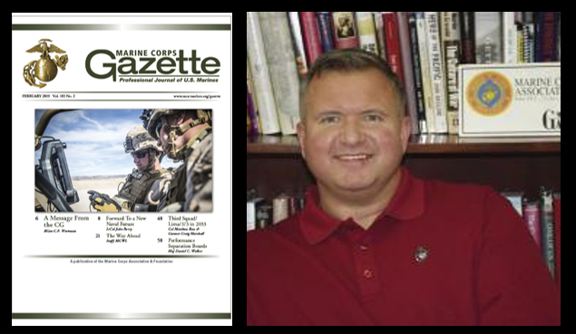 "MARINE CORPS GAZETTE HOUR: we talk current events, leadership & February's theme of ""INNOVATION"" with Chris Woodbridge"