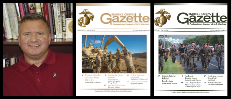 "MARINE CORPS GAZETTE HOUR: ""there is a flippin' equal sign between discipline in garrison & discipline on the battlefield"" – Chris Woodbridge"