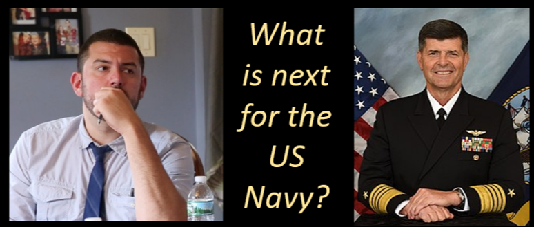 NAVY TIMES REPORTER GEOFF ZIEZULEWICZ:  the Admiral Moran resignation story and what's next for a beleaguered US Navy