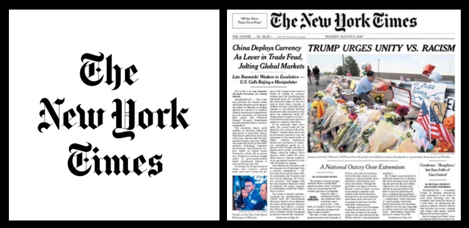 MODERN JOURNALISM:  a New York Times headline writer wasn't anit-Trump enough, revisions ensued and so did an uproar