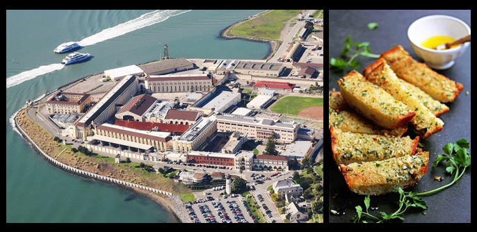 "THE CHEF SEZ:  new speech — ""I've been away at the Justice Dormitory at San Quentin"" — huh?   Garlic bread secrets!"