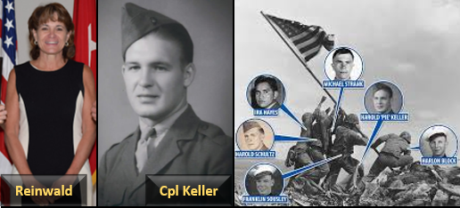 74 YEARS LATER A SECOND FLAG RAISER IS RENAMED:  Col Mary Reinwald, USMC (ret)