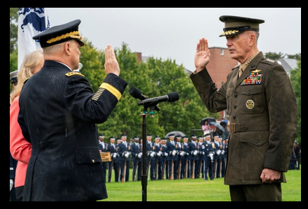 CHANGE COMES TO THE TOP OF THE UNIFORMED SERVICES:  Trump salutes General Dunford & installs General Milley as Chairman