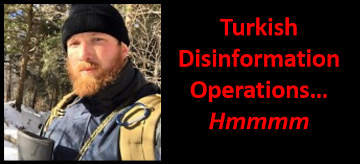 ALEX HOLLINGS:  Turkey ramps up its disinformation activities on social media — did they send Alex a message?  Hmmmmmm