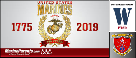 "AFTER AN INCREDIBLE ""POST-TRAUMATIC WINNING"" DAY SPENT WITH 1/5…  and… HAPPY 244TH BIRTHDAY MARINES!!"