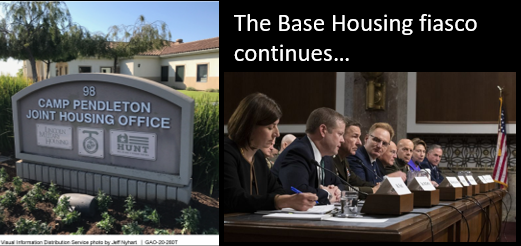 The Base Housing fiasco continues — the GAO says the data the DOD supplied to Congress is GARBAGE!