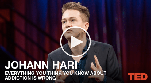 """""""Everything you think you know about addiction is wrong"""" — Ted Talk by Johann Hari (very interesting comments about the impact of isolation)"""